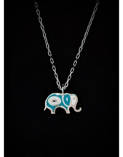 Chance Elephant Silver Pendant