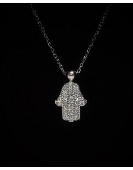 Hand of Fatma Silver Pendant